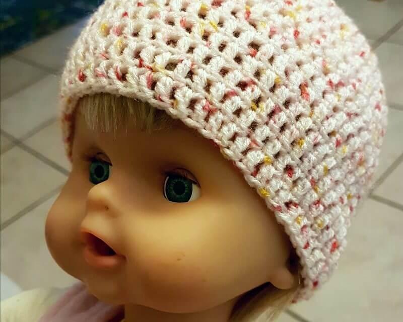63fab6a77aaa5 Bonnet bébé taille naissance - Ael Créations | Blog sur le crochet