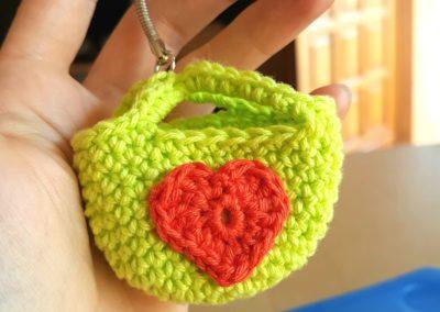 Mini sac porte clé